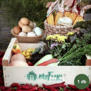 Próba zöldség + tojás kosár - Kerekegyháza