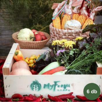 Havi zöldség + tojás kosár