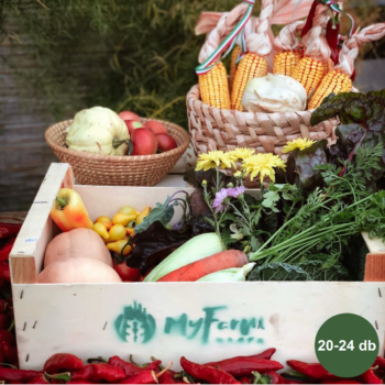 Heti zöldség + füstölt áru + tojás kosár