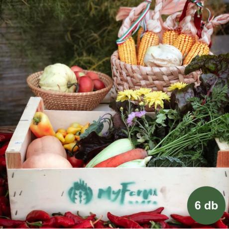 Havi zöldség + füstölt áru + tojás kosár